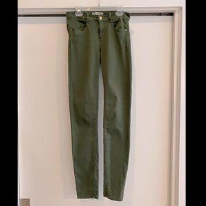 Zara TRAFALUC dark olive green jean